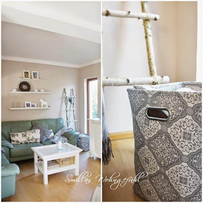diy holzleiter aus birkenzweigen smillas wohngef hl. Black Bedroom Furniture Sets. Home Design Ideas