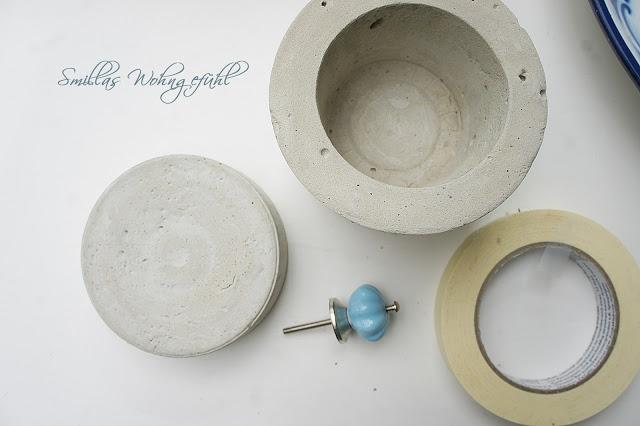 diy schmuckdose aus beton smillas wohngef hl. Black Bedroom Furniture Sets. Home Design Ideas