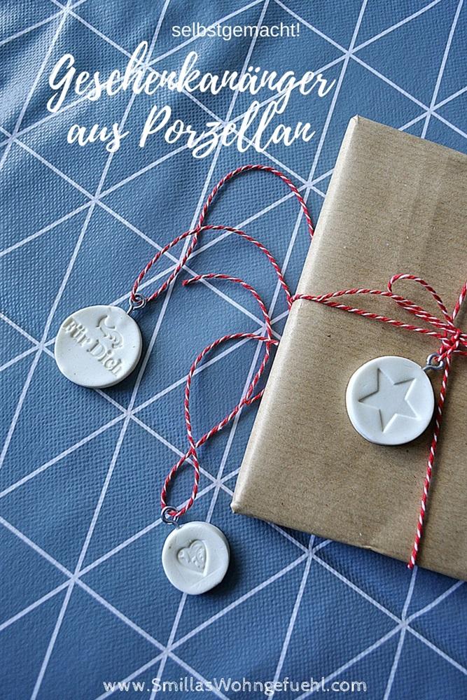geschenkanhaenger aus kaltem  porzellan DIY