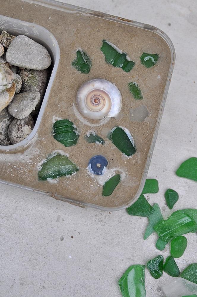 Blumenschale aus beton selber giessen DIY