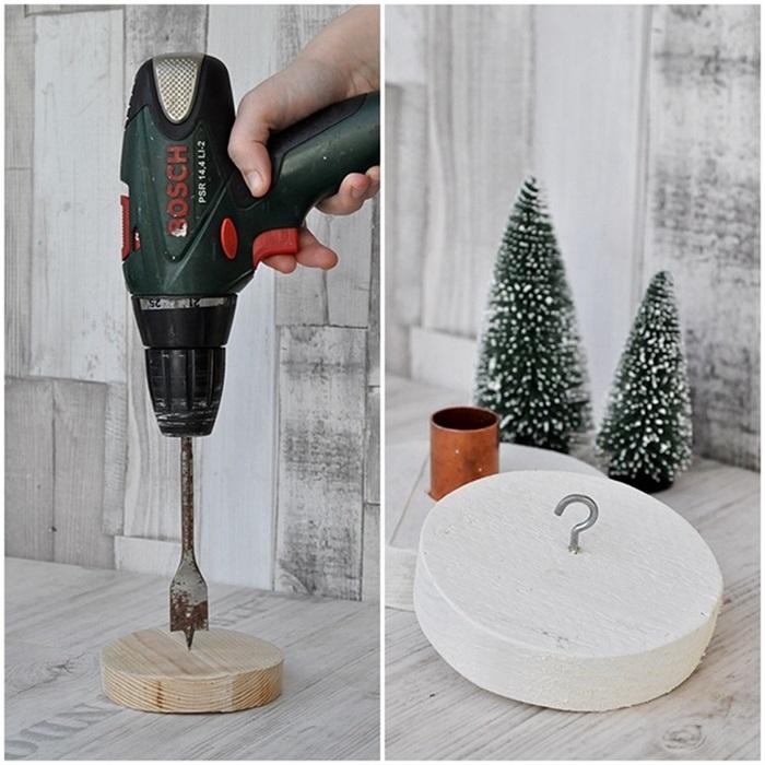 DIY Weihnachtsdeko selber machen Kerzenhalter