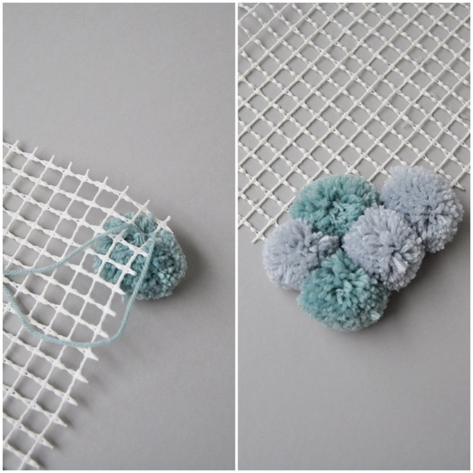 DIY Teppich aus Bommeln selber machen
