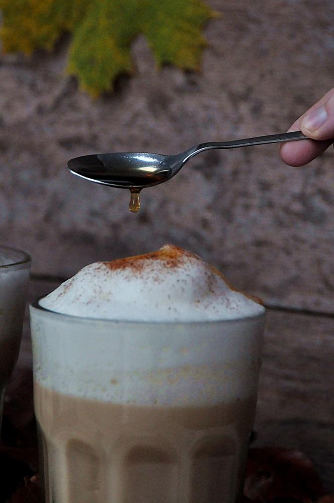 Smillas Wohngefuehl Pumpkin Spice latte vegan mit Ahornsirup