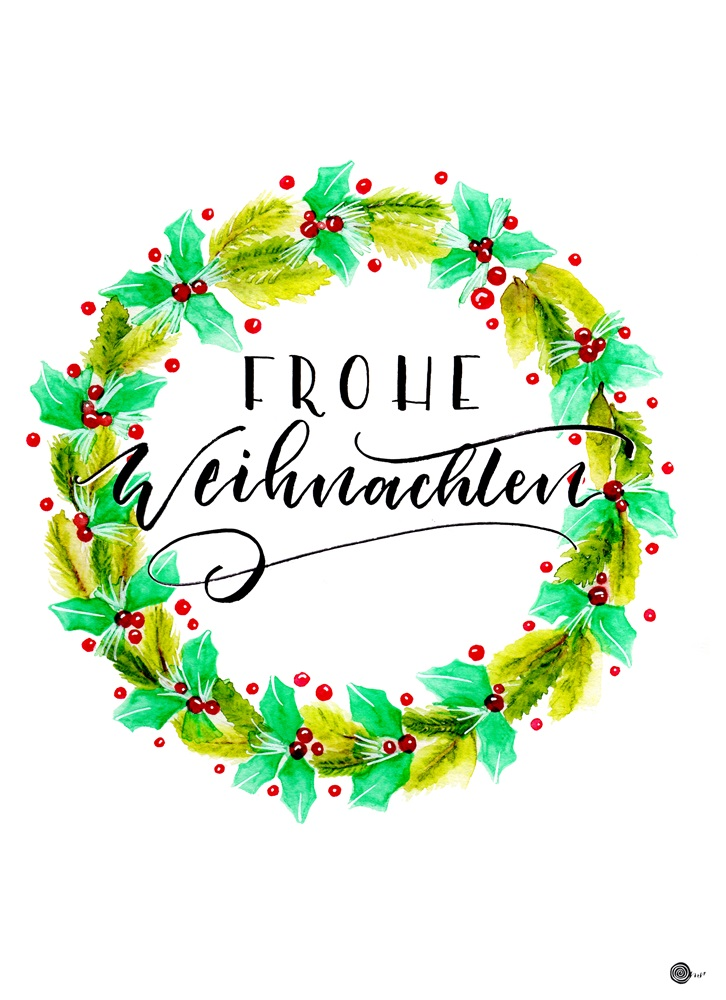 Weihnachts lettering suessholzdesign